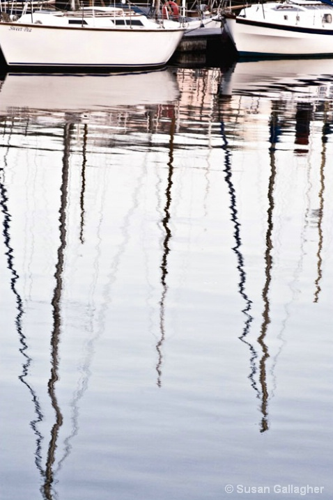 Boat Mast Reflections