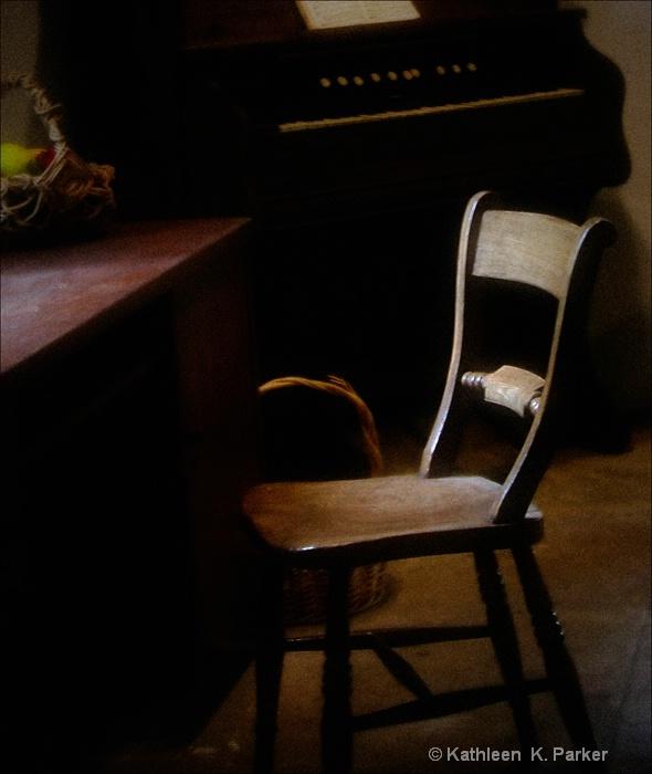 Chair in Dim Light - Destrehan Plantation