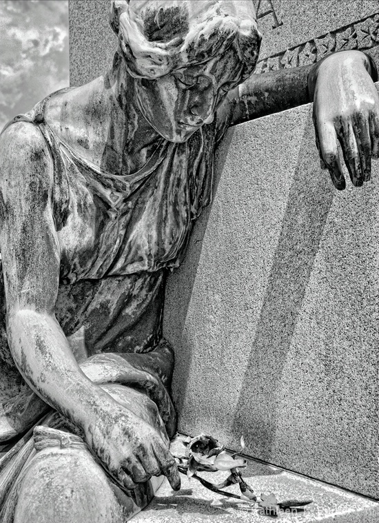 Grief in Bronze: Cemetery Statue
