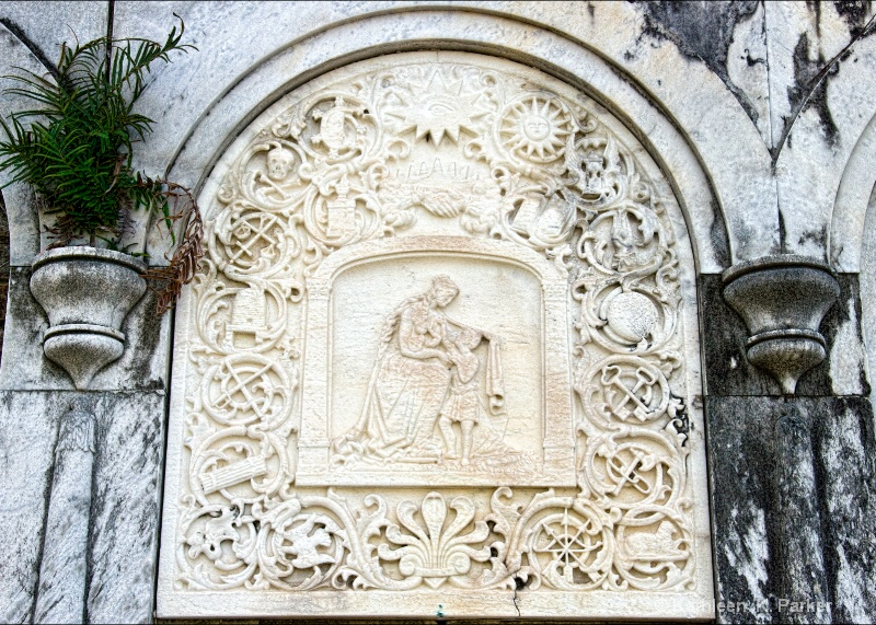 Symbolic tomb details
