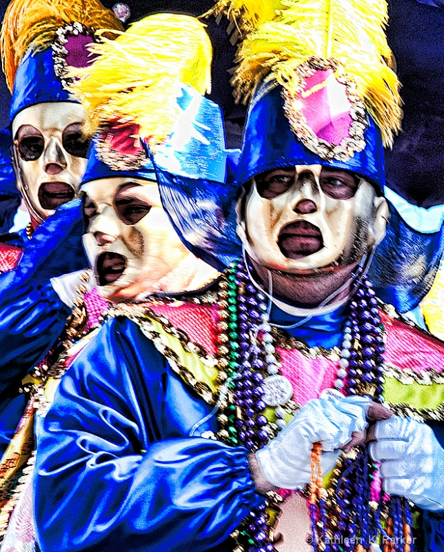 Rex Parade Float Riders, Mardi Gras