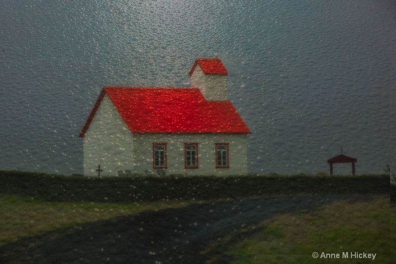 Icelandic Church in the Rain