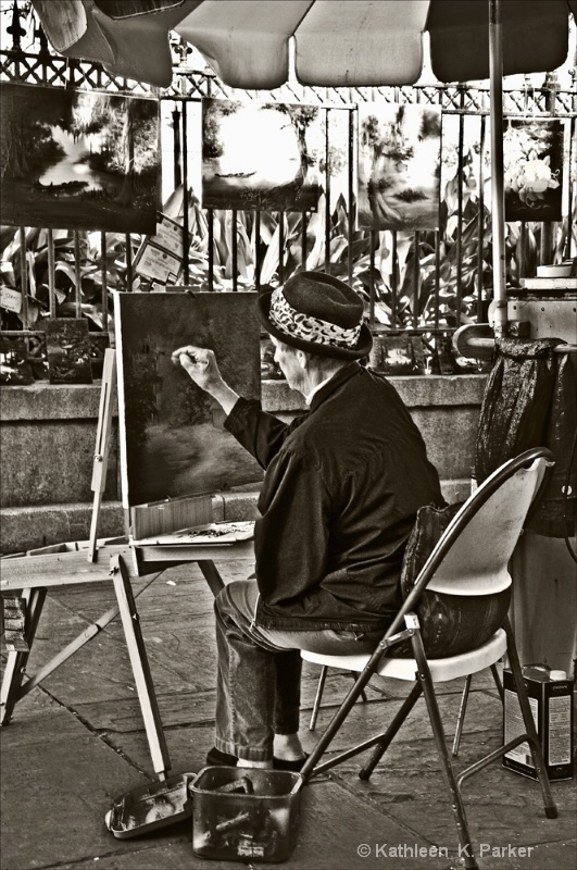 Artist on the Square, New Orleans
