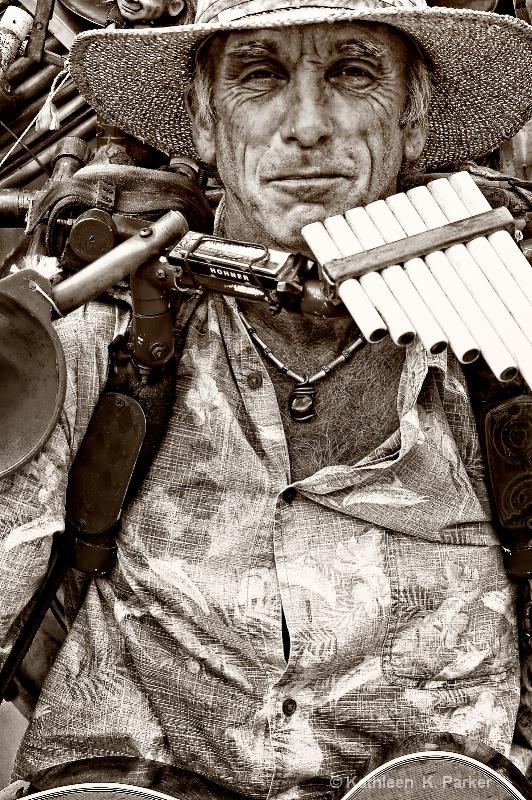 The Music Man - monochrome