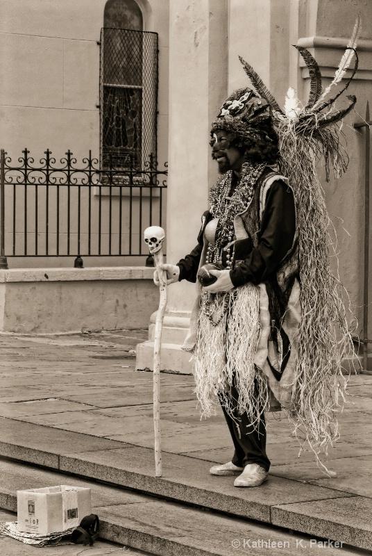 Voodoo Man New Orleans - sepia