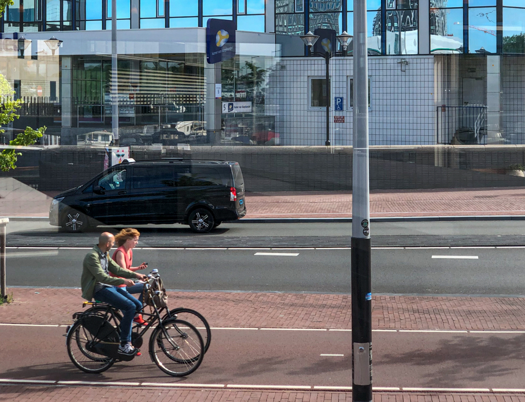 Biking is big in the Netherlands.