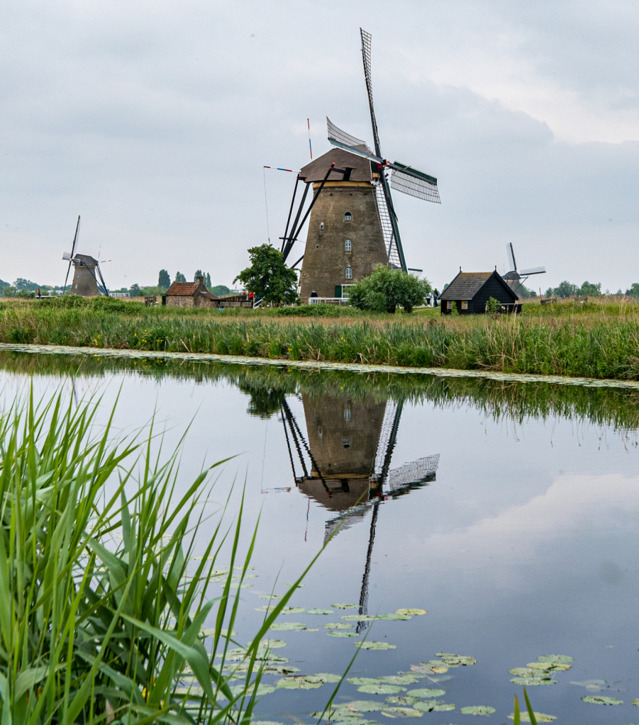 Reflection of the wind mill