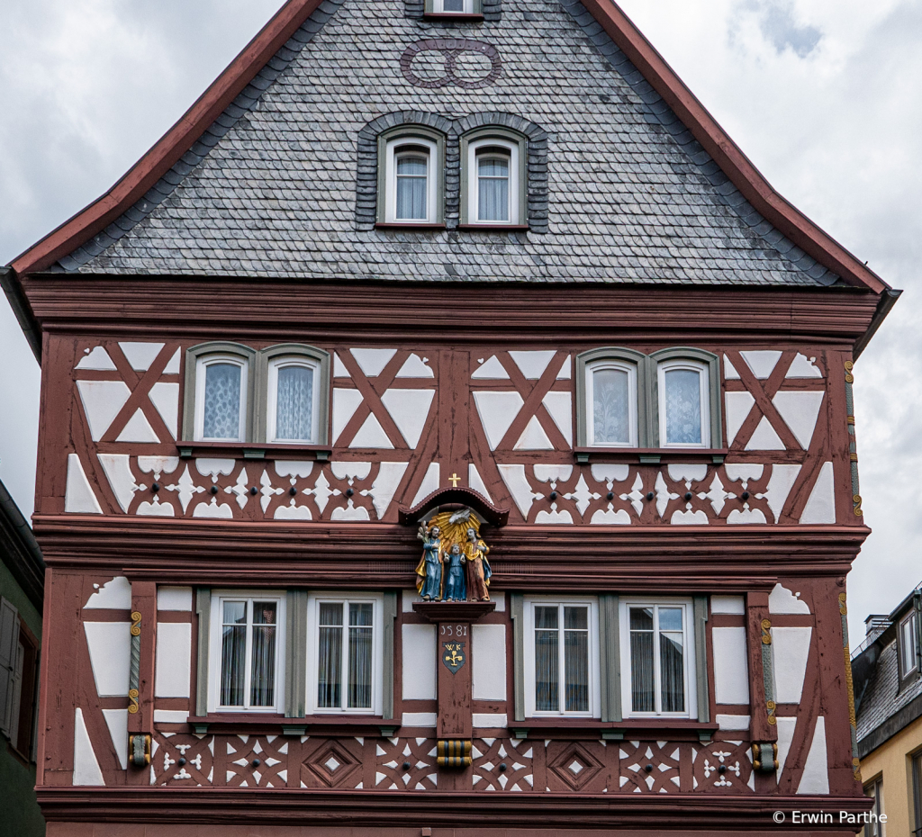 Timber framed house