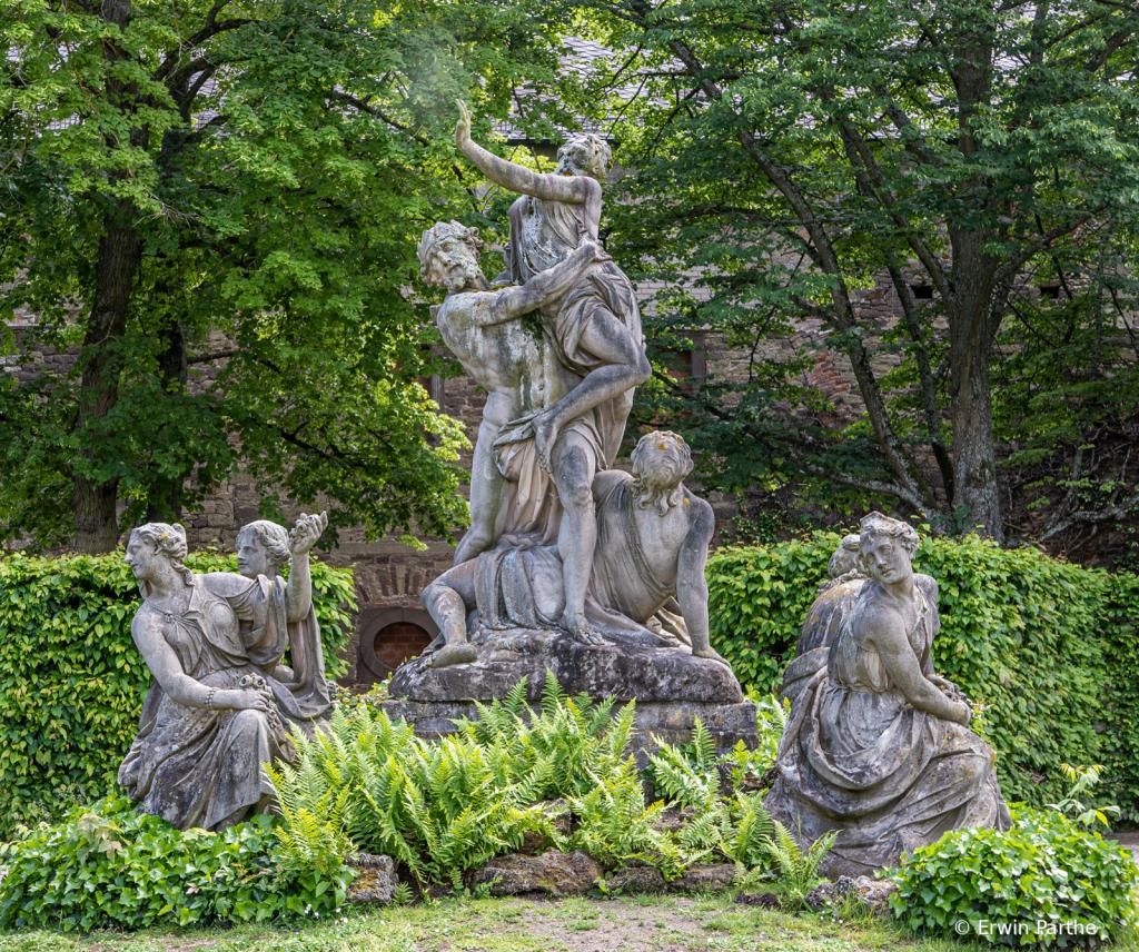 original statue in the Bishops' garden