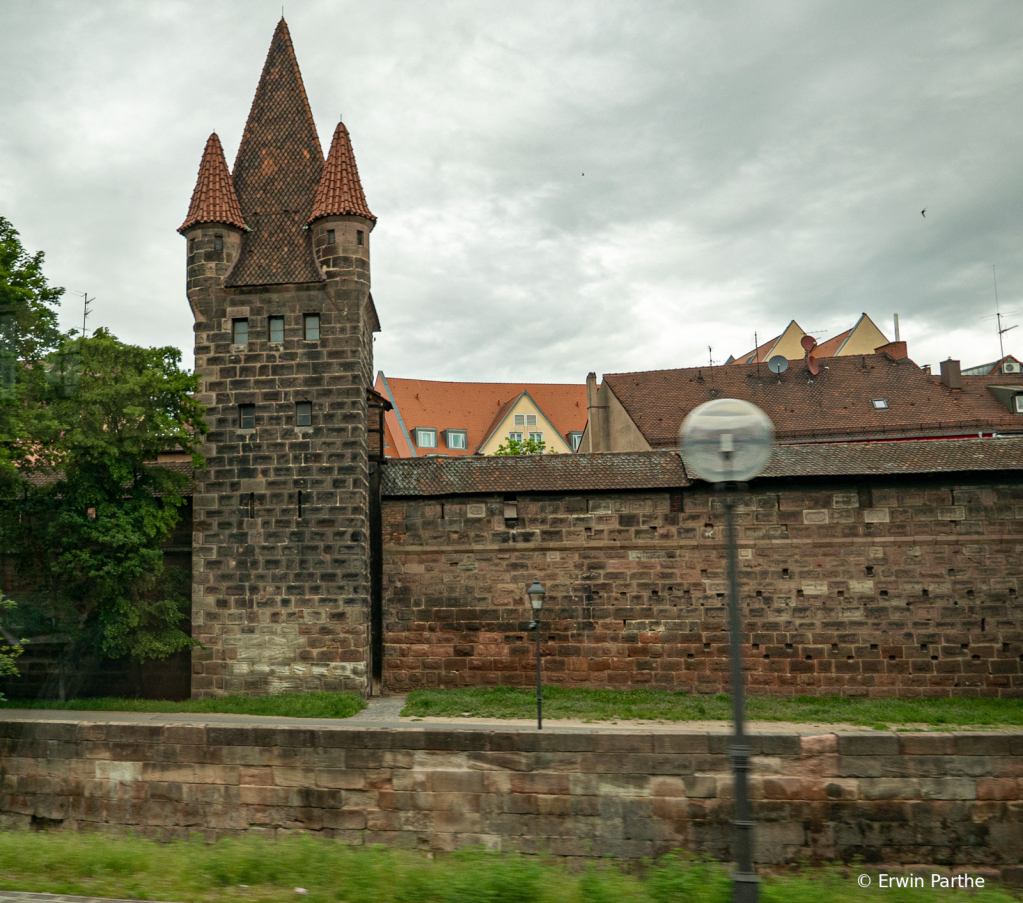 Old wall with tower