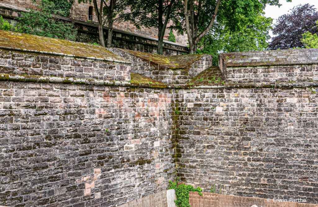 the wall surrounding the palace
