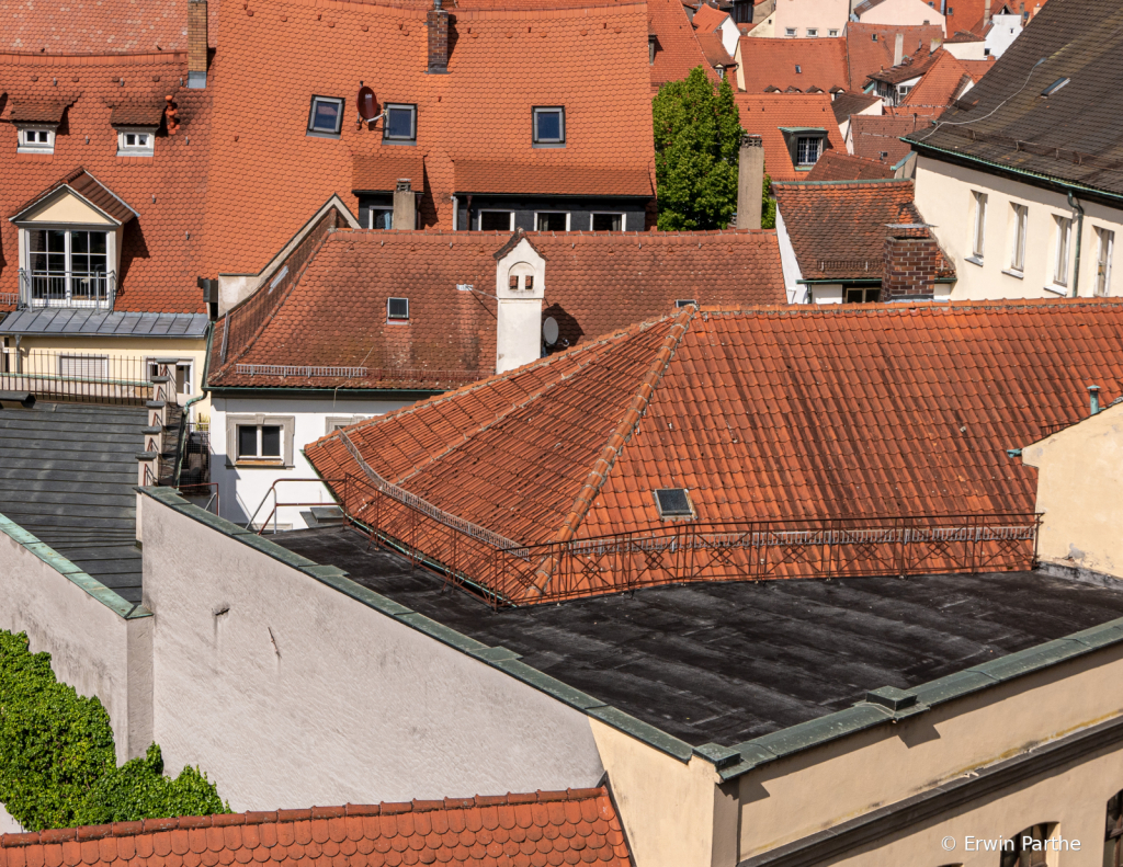 Red roofs of Bamberg
