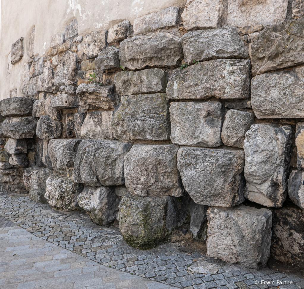 ancient roman wall.