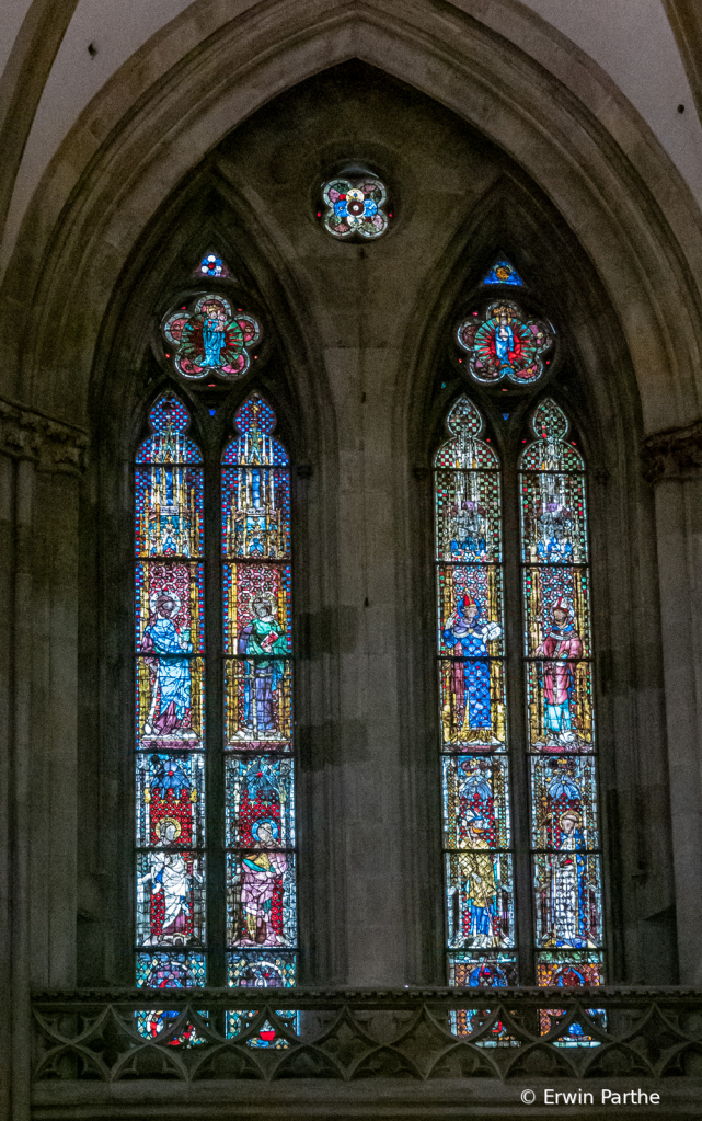 Stained glass window in the Cathedral.