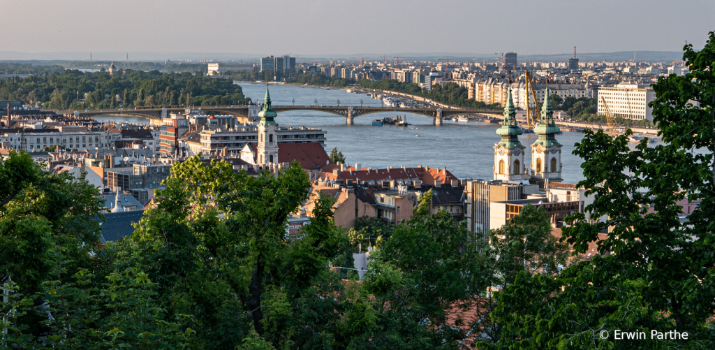a mother view of Budapest from the hill.