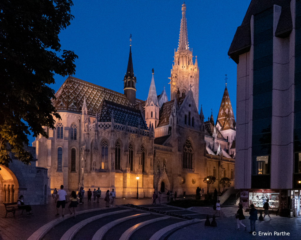 Matthias church wit our hotel on the right