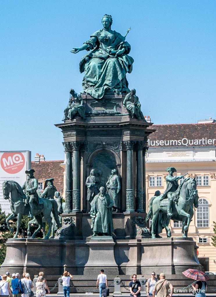 Maria Theresa Statue downtown Vienna.