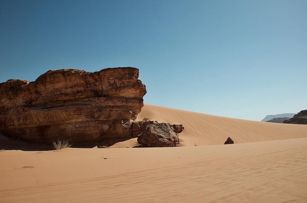 Sand Dune at Wadi Rum