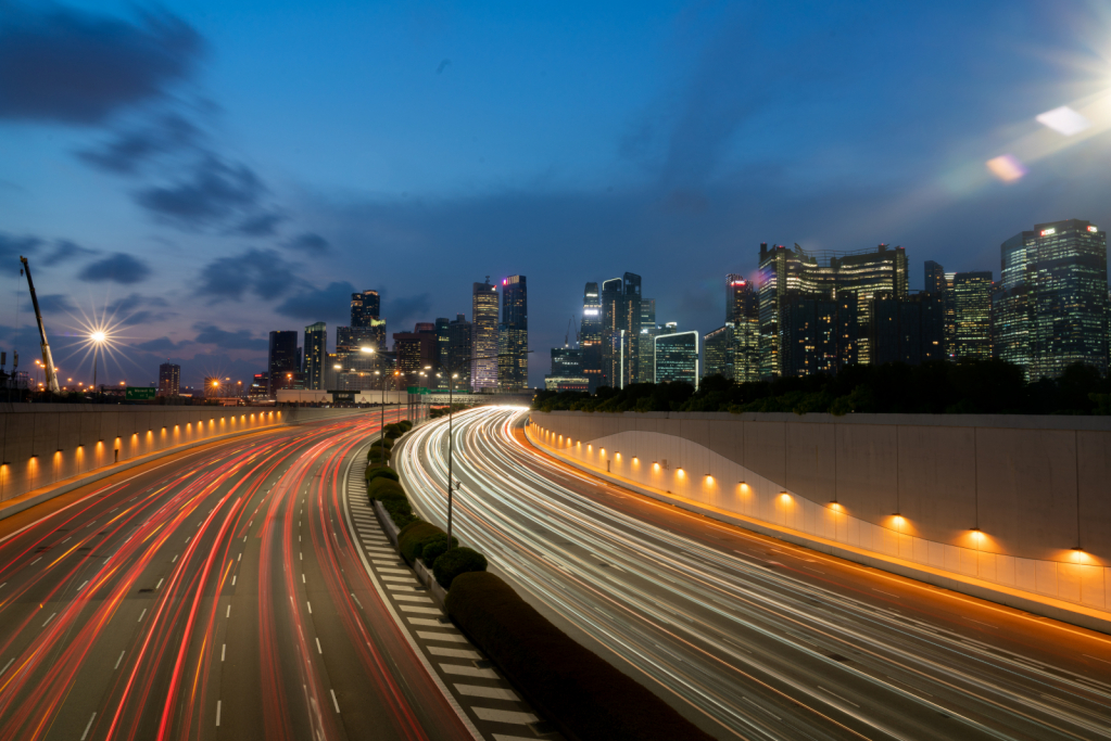 Light trails of Singapore