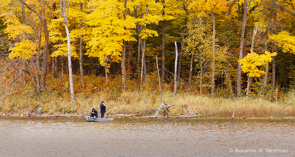 Fall fishing at Maplewood state park