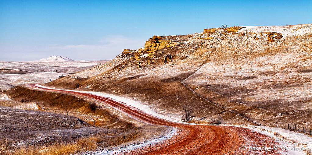 Roads through the badlands
