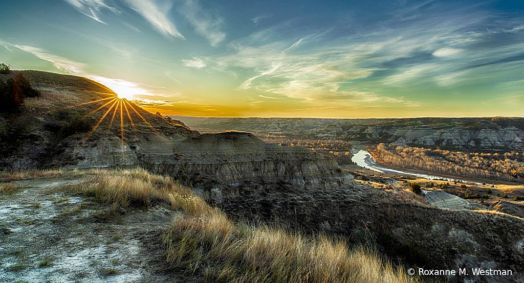Badlands overlook of Little Missouri