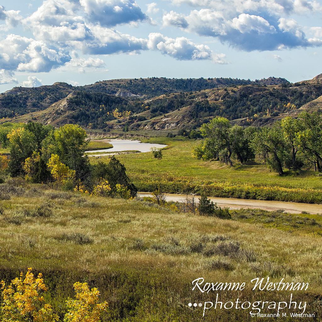 Little Missouri river in the badlands