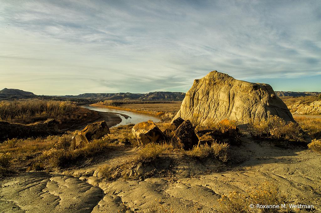 Sandstone overlook of the Little Missouri
