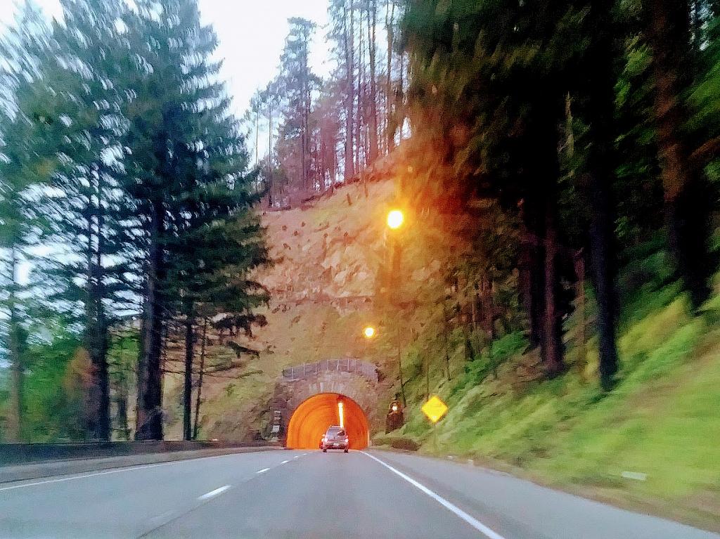 Oregon tunnel outside of Portland