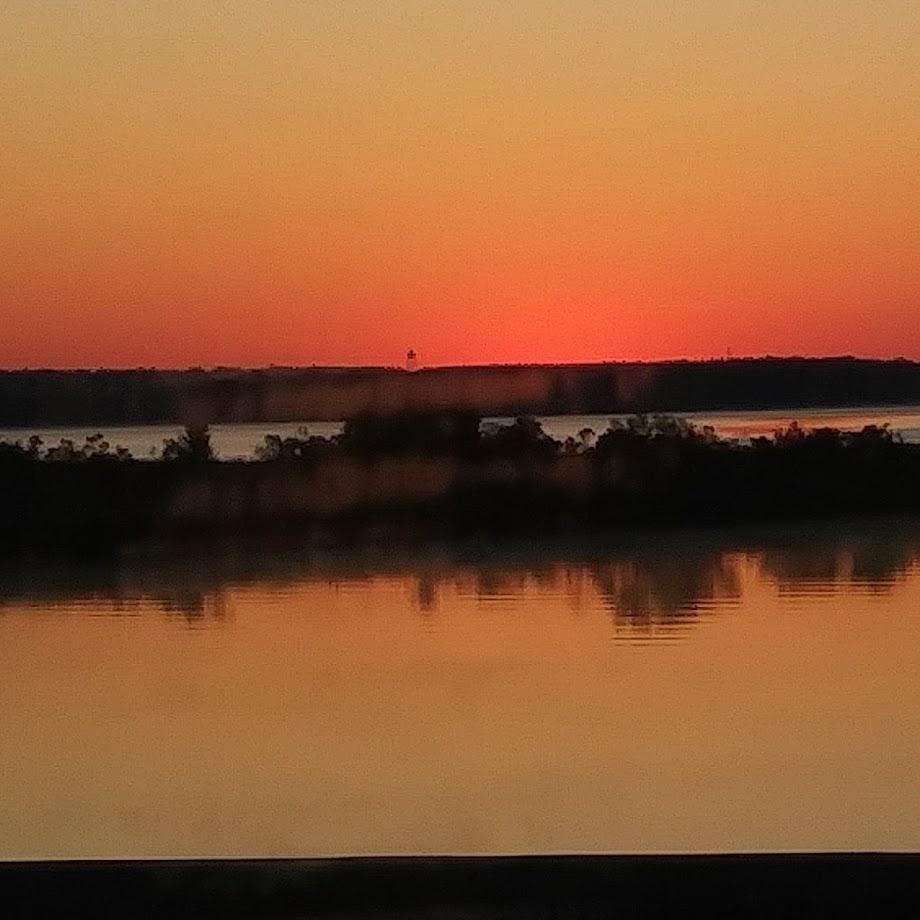 Sunrise over Escambia Bay