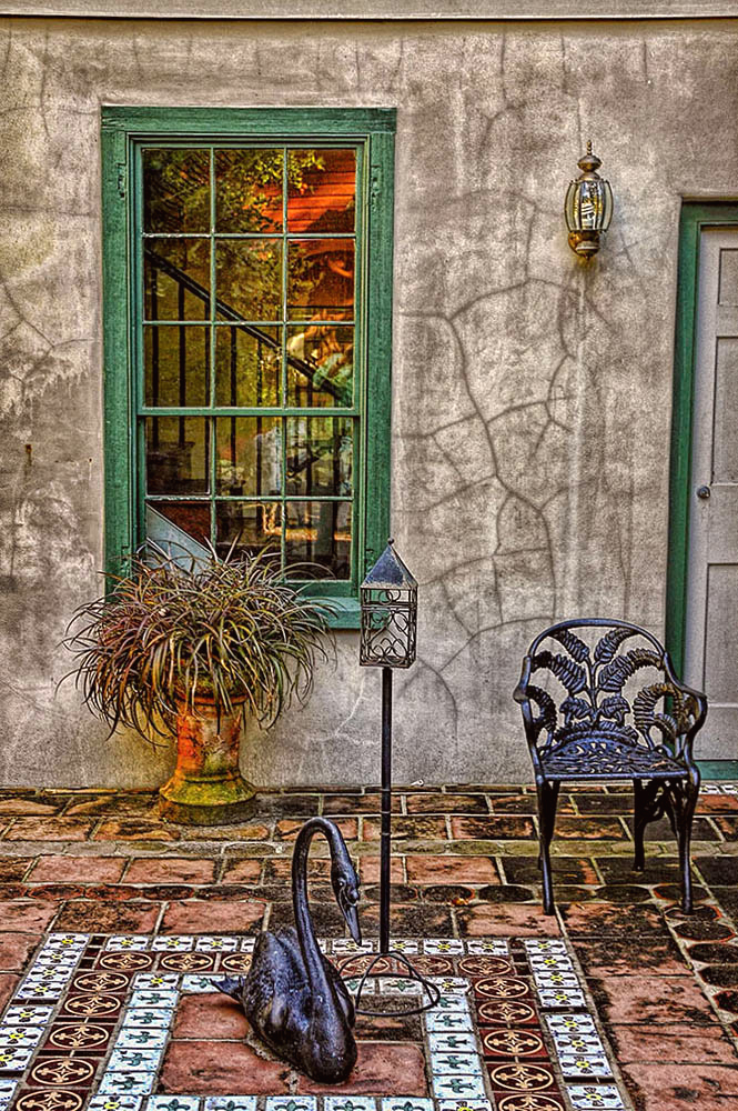 In a St. Augustine Courtyard