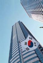 Skyscraper and Flag