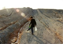 Boy at chalk mines