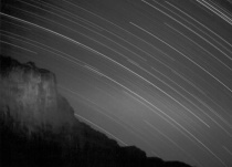 startrail at the orange river S.A.