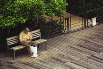Old Man on Park Bench