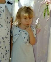 """Little Flower Girl after the Wedding"""