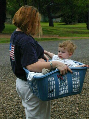 Laundry... baby and all