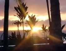 Sunset in Kanapali, Maui