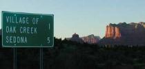 Entering Sedona, AZ