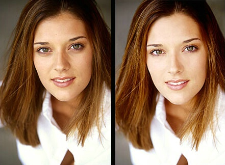 Before & After Model Headshot
