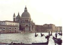 Venice as the sun  goes down