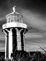 Watson's Bay Lighthouse B+W