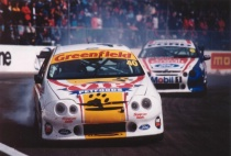 Australian V8 Supercar after accident.