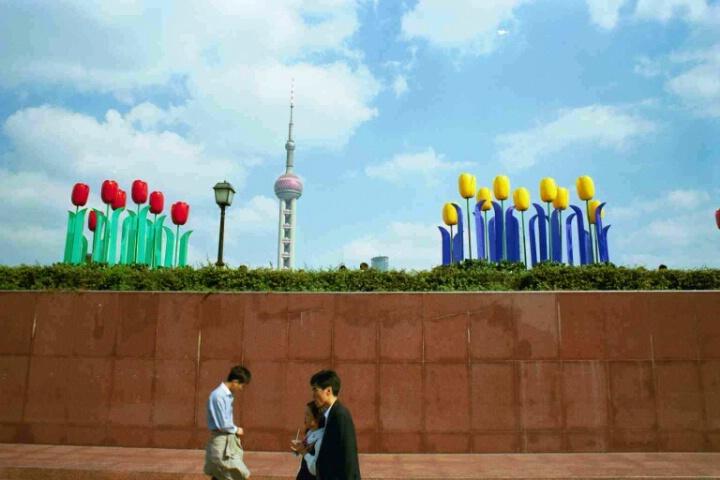 Shanghai Bund & Tulips