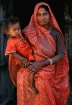 Mother in red