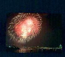 Fireworks over city #1