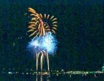 Fireworks over city #2