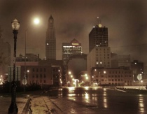 Kansas City rainy night
