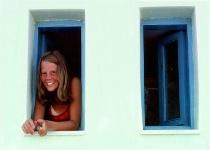 Nina in a window