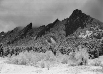 First Snow at The Flatirons